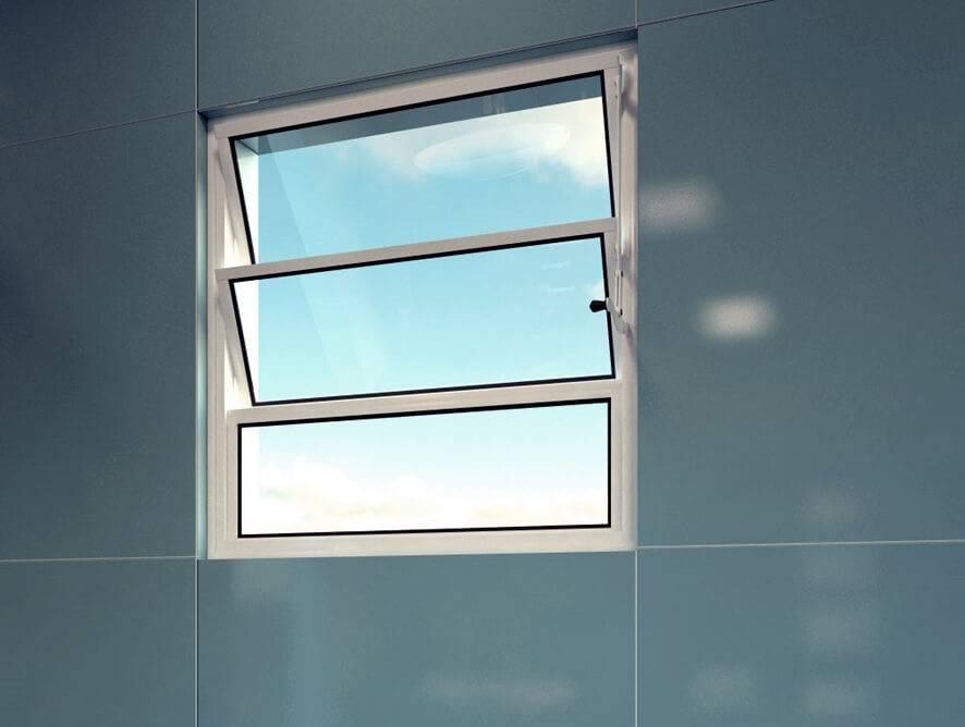 Janela Basculante - Rocha Esquadrias - Esquadrias de Aluminio e Vidros Temperados em Curitiba -  Vidros Temperados em Curitiba