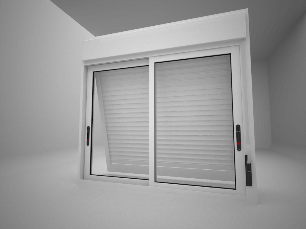 Janela Integrada - Rocha Esquadrias - Esquadrias de Aluminio e Vidros Temperados em Curitiba -  Vidros Temperados em Curitiba